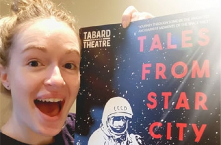 Christina Baston appears at the Tabard Theatre in Tales from Star City