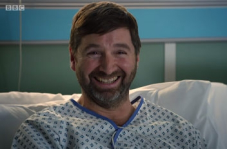 John Lightbody in a guest role in HOLBY CITY
